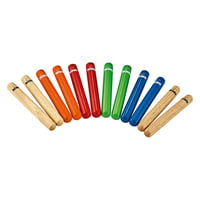 Nino : Coloured Claves Set 6pc