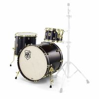 SJC Drums : Tour 3pc shell set black/brass