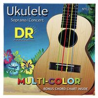 DR Strings : Multi Colour Ukulele Strings