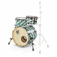 SJC Drums : Custom Studio Turquoise Barb.