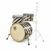 SJC Drums : Custom Studio Aged Black Barb.