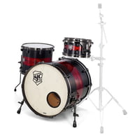 SJC Drums : Custom Rock Satin Stain and Red