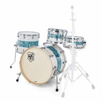 SJC Drums : Custom 4-piece White Turqouise