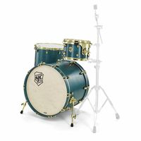 SJC Drums : Tour 3pc shell set blue/brass