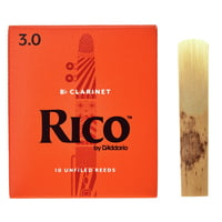 DAddario Woodwinds : Rico Bb- Clarinet 3 Boehm