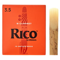 DAddario Woodwinds : Rico Bb- Clarinet 3,5 Boehm