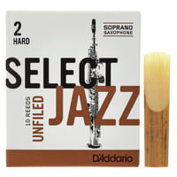 DAddario Woodwinds : Select Jazz Unfiled Soprano 2H