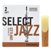 DAddario Woodwinds : Select Jazz Unfiled Soprano 2S