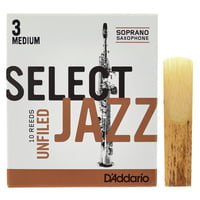 DAddario Woodwinds : Select Jazz Unfiled Soprano 3M