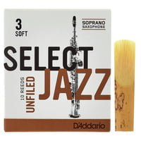 DAddario Woodwinds : Select Jazz Unfiled Soprano 3S