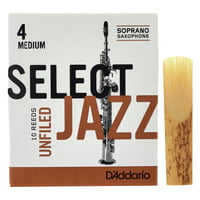 DAddario Woodwinds : Select Jazz Unfiled Soprano 4M
