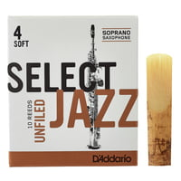 DAddario Woodwinds : Select Jazz Unfiled Soprano 4S