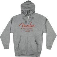 Fender : Hoody with Zipper Grey S