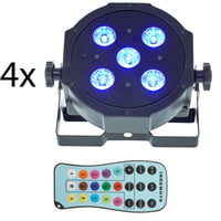Fun Generation : SePar Quad LED RGB UV Bundle 4