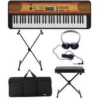 Yamaha : PSR-E360 Maple Deluxe Bundle