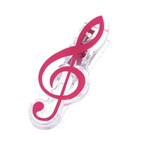agifty : Music Clip Violin Clef Pink