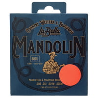 La Bella : 880L Mandolin Ph.Br. Light