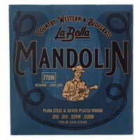La Bella : 770M Mandolin Silv.Pl. Medium