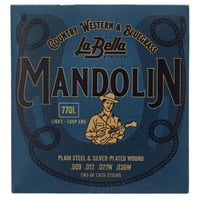 La Bella : 770L Mandolin Silv.Pl. Light