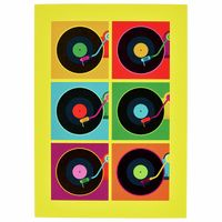 My World : Record Player Greeting Card