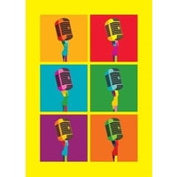 My World : Microphones Greeting Card
