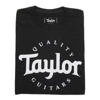 Taylor : Basic Black Aged Logo Tshirt M