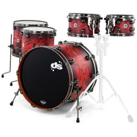 DS Drums : Rebel All Maple Red Pine Burst