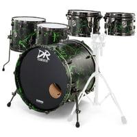 DR Customs : Rock Set Black Green Splatter