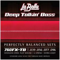 La Bella : 760FX-TB Flatwound String Set