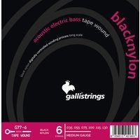 Galli Strings : G77-6 Black Nylon Bass Strings