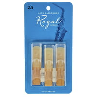 DAddario Woodwinds : Royal Alto Sax 2.5 - 3-Pack