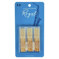 DAddario Woodwinds : Royal Alto Sax 3.0 - 3-Pack