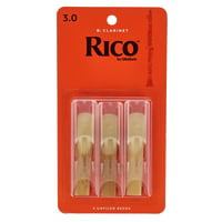 DAddario Woodwinds : Rico Bb- Clar 3.0 - 3-Pack