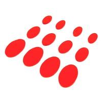 SkyGel : Gel Damper Pads red 12 Pack