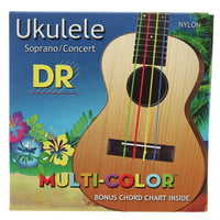DR Strings : Multi-Color UMCSC Ukulele