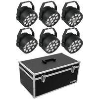 Eurolite : Set 6x LED PARty TCL Sp + Case