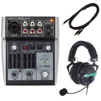 Behringer : Xenyx 302USB Headset Bundle