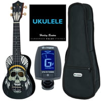 Harley Benton : DOTU UKE-S Native Skull Bundle