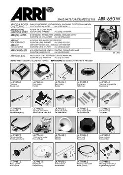 ARRI Junior 650 Ersatzteile