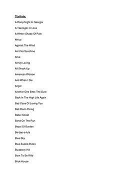 Titelliste