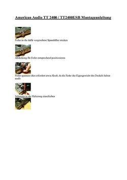 Montageanleitung Deckel