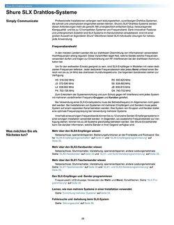 Bedienungsanleitung für SLX-Serie