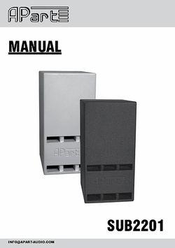 Manual Sub2201