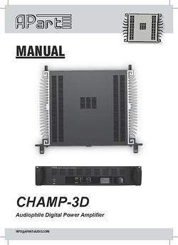 Manual Champ3D
