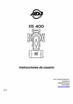Instrucciones de usuario