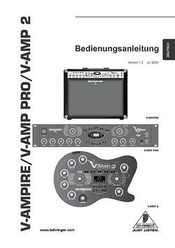 Bedienungsanleitung in Deutsch