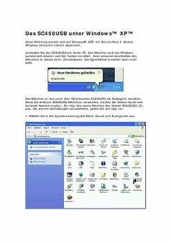 Bedienungsanleitung für Windows XP