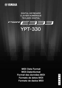 MIDI Data Format