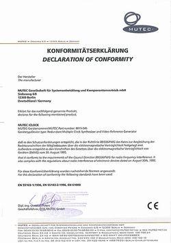CE Konformitätserklärung