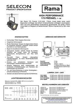 Selecon RAMA175 HP Fresnel